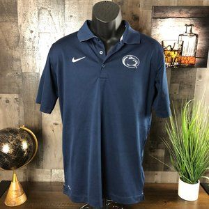 Nike Dri-Fit Penn State Blue Polo Shirt